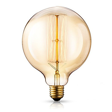 1pc 40 W E26 / E27 G125 Warm White 2300 k Retro / Dimmable / Decorative Incandescent Vintage Edison Light Bulb 220-240 V