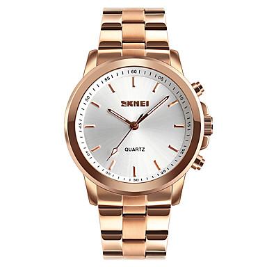 Недорогие Часы на металлическом ремешке-SKMEI Муж. Спортивные часы Модные часы Армейские часы Японский Кварцевый Нержавеющая сталь Черный / Серебристый металл / Золотистый 50 m Защита от влаги Bluetooth Пульт управления Аналоговый