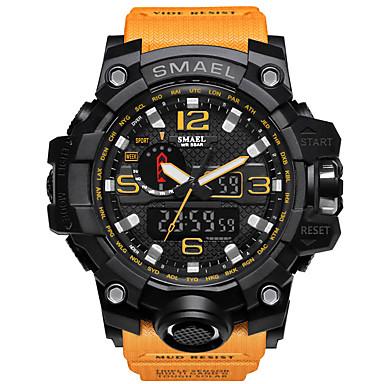 levne Pánské-SMAEL Pánské Sportovní hodinky Vojenské hodinky Náramkové hodinky japonština Japonské Quartz Z umělé kůže Černá / Modrá / Červená 50 m Voděodolné Alarm Kalendář Analog - Digitál Přívěšky Luxus