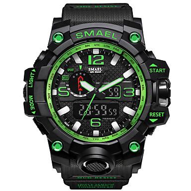 זול שעוני גברים-SMAEL בגדי ריקוד גברים שעוני ספורט שעונים צבאיים שעון צמיד דיגיטלי דמוי עור מרופד שחור / כחול / אדום 30 m עמיד במים Alarm לוח שנה אנלוגי-דיגיטלי קסם פאר וינטאג' יום יומי בוהמי -  / שנתיים / זורח