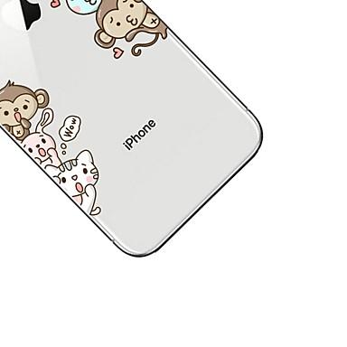 iPhone iPhone 06557965 8 retro Apple Transparente sottile Per Fantasia X TPU Custodia iPhone per Ultra Morbido disegno Animali Cartoni Per animati HwEqnxR