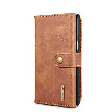 voordelige Galaxy Note-serie hoesjes / covers-DG.MING hoesje Voor Samsung Galaxy Note 8 Kaarthouder / met standaard / Flip Volledig hoesje Effen Hard aitoa nahkaa voor Note 8
