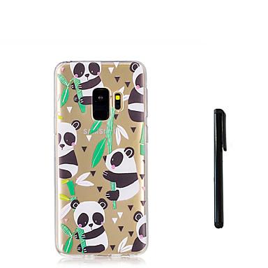 voordelige Galaxy S-serie hoesjes / covers-hoesje Voor Samsung Galaxy S9 / S9 Plus / S8 Plus Doorzichtig Achterkant dier / Panda Zacht TPU