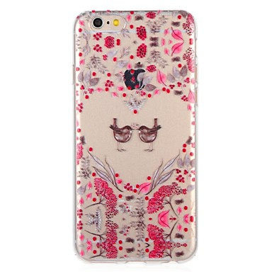 voordelige iPhone 6 Plus hoesjes-hoesje Voor Apple iPhone 8 Plus / iPhone 8 / iPhone 7 Plus Patroon Achterkant Hart / dier / Bloem Zacht TPU