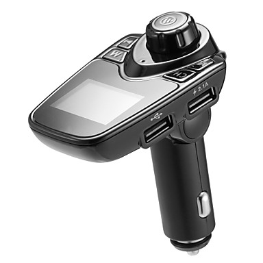 """billige Bluetooth Bil Sæt/""""Hands-free""""-bluetooth bil fm sender lydadapter modtager trådløs håndfri voltmeter bilsæt tf card aux usb 1,44 display bil oplader"""