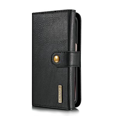 Недорогие Чехлы и кейсы для Galaxy S-DG.MING Кейс для Назначение SSamsung Galaxy S7 edge Бумажник для карт / со стендом / Флип Чехол Однотонный Твердый Настоящая кожа для S7 edge