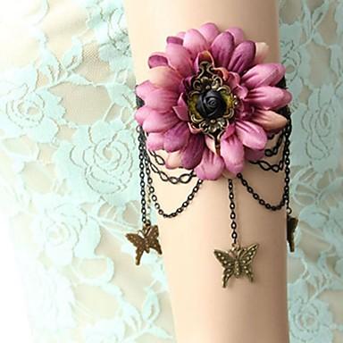 preiswerte Körperschmuck-Arm Ketten Blume, Schmetterling damas, Retro, Süß Damen Silberschwarz Körperschmuck Für Formal / Ausgehen