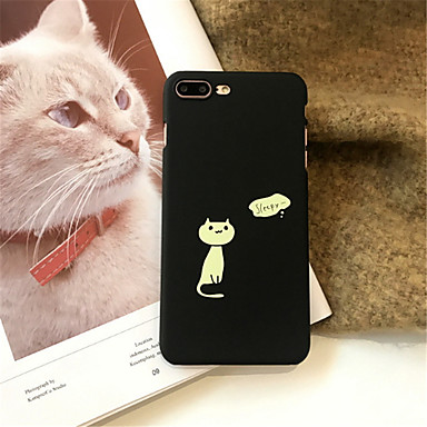 voordelige iPhone 7 hoesjes-hoesje Voor Apple iPhone X / iPhone 8 Plus / iPhone 8 Patroon Achterkant Kat Hard Acryl