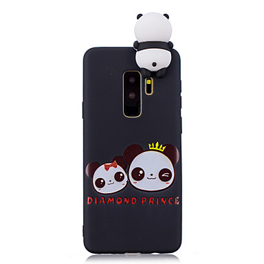 Недорогие Чехлы и кейсы для Galaxy S6-Кейс для Назначение SSamsung Galaxy S9 / S9 Plus / S8 Plus Защита от удара / С узором / Своими руками Кейс на заднюю панель Мультипликация / 3D в мультяшном стиле / Панда Мягкий ТПУ