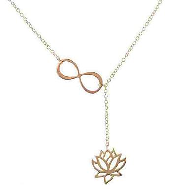 billige Mode Halskæde-Dame Lasso Halskædevedhæng Y Halskæde lang halskæde Blomst Lotus Uendelighed Damer Simple Mode Guld Sølv Halskæder Smykker Til Daglig