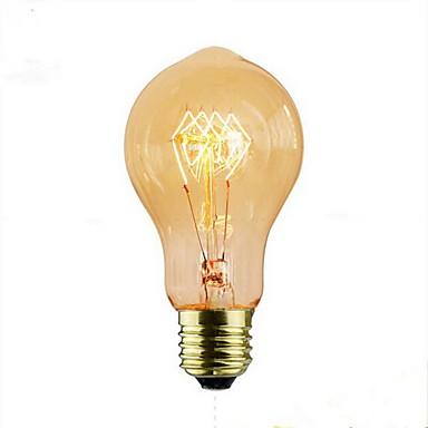 1szt 60W E26/E27 A60(A19) 2300 K Żarówka Vintage Edison żarówka AC 220V AC 220-240V V
