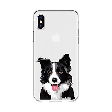 voordelige iPhone 7 hoesjes-hoesje Voor Apple iPhone X / iPhone 8 Plus / iPhone 8 Patroon Achterkant Hond / dier / Cartoon Zacht TPU