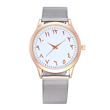 Недорогие Часы на металлическом ремешке-Муж. Модные часы Нарядные часы Кварцевый Нержавеющая сталь Серебристый металл / Золотистый / Розовое золото 30 m Секундомер Аналоговый Классика На каждый день -  / Один год / SSUO LR626