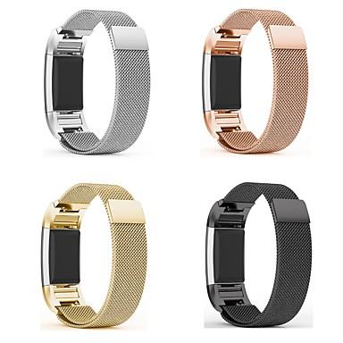 حزام إلى Fitbit Charge 2 فيتبيت عقدة ميلانزية معدن ستانلس ستيل شريط المعصم