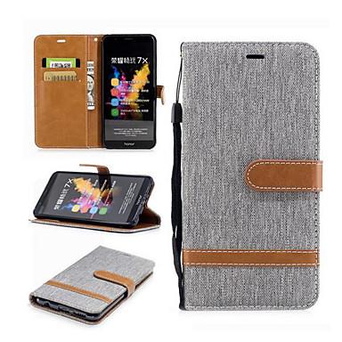 غطاء من أجل Huawei موتورولا حامل البطاقات محفظة مع حامل قلب غطاء كامل للجسم خطوط / أمواج قاسي منسوجات إلى موتو G5 زائد موتو G5 Moto G4