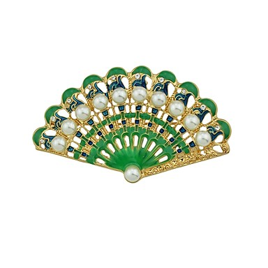 Women's Brooches - Fan Basic, Fashion Brooch Green For Daily / Date