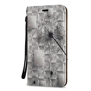 Недорогие Чехлы и кейсы для Galaxy S3-Кейс для Назначение SSamsung Galaxy S9 / S9 Plus / S8 Plus Кошелек / Бумажник для карт / со стендом Чехол одуванчик Твердый Кожа PU