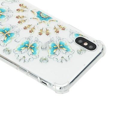 8 per iPhone Fiore urti TPU Fantasia agli Resistente X X 06632281 Per retro iPhone disegno Morbido Per 8 Apple iPhone iPhone decorativo Custodia RxOnqwpCTx