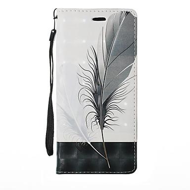 voordelige Galaxy Note 5 Hoesjes / covers-hoesje Voor Samsung Galaxy Note 8 / Note 5 / Note 4 Kaarthouder / met standaard / Flip Volledig hoesje Planten / Cartoon / Paardebloem Hard PU-nahka