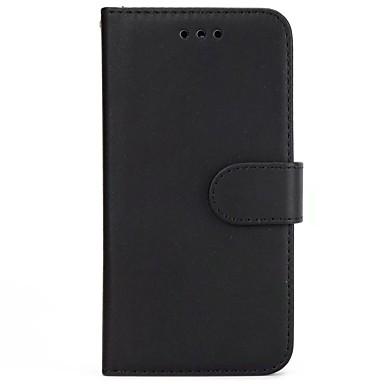 Недорогие Чехлы и кейсы для Galaxy S6-Кейс для Назначение SSamsung Galaxy S9 / S9 Plus / S8 Plus Кошелек / Бумажник для карт / Флип Чехол Однотонный Твердый Настоящая кожа