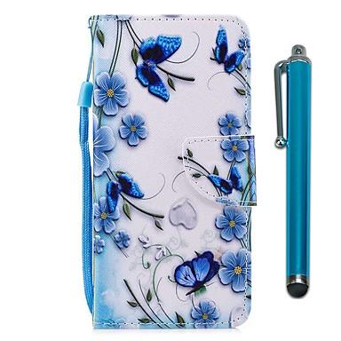 voordelige Galaxy S-serie hoesjes / covers-hoesje Voor Samsung Galaxy S9 / S9 Plus / S8 Plus Portemonnee / Kaarthouder / met standaard Volledig hoesje Vlinder Hard PU-nahka