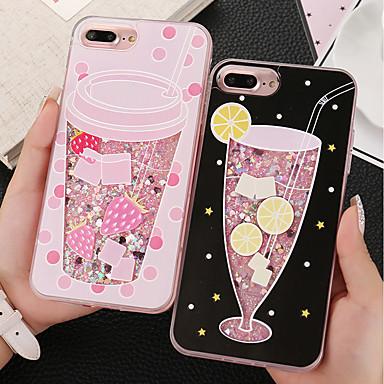 voordelige iPhone 6 Plus hoesjes-hoesje Voor Apple iPhone X / iPhone 8 Plus / iPhone 8 Schokbestendig Achterkant Glitterglans / Fruit Hard TPU / PC