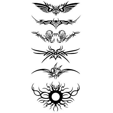 1 pcs Tattoo Stickers Temporary Tattoos Totem Series Waterproof Body Arts Body / Arm / Shoulder