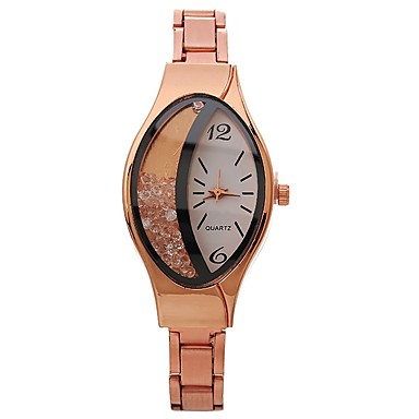 61022a250fd Mulheres Relógio de Pulso Quartzo Preta   Prata   Dourada Relógio Casual  Mostrador Grande Analógico senhoras