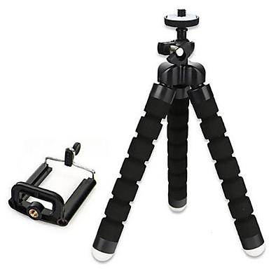 billige Selfietripod-fleksibel svamp stativ mini telefonholder holder 18mm 3 seksjoner for iphone smartphone samsung xiaomi huawei mobiltelefon