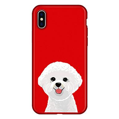 voordelige iPhone 5 hoesjes-hoesje Voor Apple iPhone X / iPhone 8 Plus / iPhone 8 Patroon Achterkant Hond / dier / Cartoon Zacht TPU