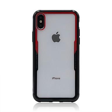 voordelige iPhone X hoesjes-hoesje Voor Apple iPhone X / iPhone 8 Plus / iPhone 8 Transparant Achterkant Effen Hard Acryl