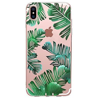 voordelige iPhone 6 Plus hoesjes-hoesje Voor Apple iPhone X / iPhone 8 Plus / iPhone 8 Patroon Achterkant Planten / Boom Zacht TPU
