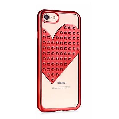 06648958 iPhone Apple Custodia sottile Per iPhone iPhone 8 X iPhone Per X Plus Glitterato Con iPhone Ultra Morbido 8 retro TPU iPhone cuori per 7 1wSxf1