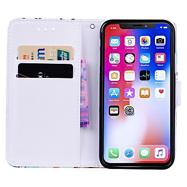pelle X iPhone 8 supporto Resistente Plus Per credito Custodia A Plus X portafoglio Porta iPhone per Con Animali 8 Apple 06639633 Integrale iPhone sintetica iPhone carte 8 di iPhone wXAUAqBI