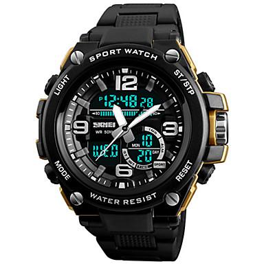Χαμηλού Κόστους Ανδρικά ρολόγια-Ανδρικά Αθλητικό Ρολόι Ψηφιακό ρολόι Ιαπωνικά Συνθετικό δέρμα με επένδυση Μαύρο 50 m Ανθεκτικό στο Νερό Ημερολόγιο Χρονογράφος Αναλογικό-Ψηφιακό Πολυτέλεια - Κόκκινο Μπλε Χρυσό / Δύο χρόνια