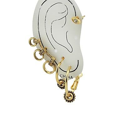 Women S Stud Earrings Ear Cuff Las Fashion Jewelry Gold For Gift Date 4pcs