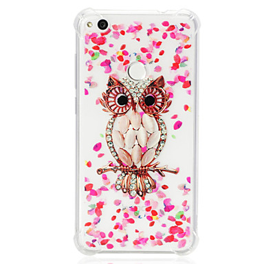 voordelige Huawei Y-serie hoesjes / covers-hoesje Voor Huawei Huawei P20 lite / P10 Lite / Huawei P9 Lite Schokbestendig / Transparant / Patroon Achterkant Uil Zacht TPU