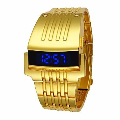 billige Herreure-Herre Sportsur Digital Watch Quartz Sort / Sølv / Guld Vandafvisende Digital Luksus Mode - Guld Sort Sølv