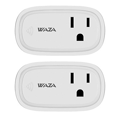 WAZA Smart Plug(US) Mini Outlet Compatible with Amazon Alexa and Google  Assistant, Wifi Enabled Remote Control Smart Socket with Timer Function, No
