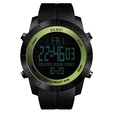 Χαμηλού Κόστους Ανδρικά ρολόγια-SKMEI Ανδρικά Αθλητικό Ρολόι Ψηφιακό ρολόι Ιαπωνικά Ψηφιακό Συνθετικό δέρμα με επένδυση Μαύρο 50 m Ανθεκτικό στο Νερό Συναγερμός Χρονογράφος Ψηφιακό Καθημερινό Μοντέρνα -  / Ενας χρόνος / Χρονόμετρο