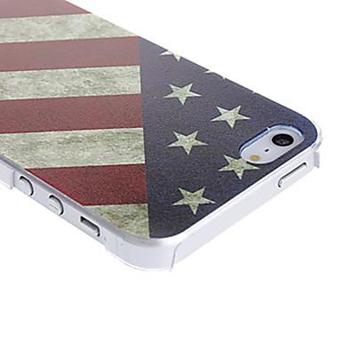 Pouzdro Uyumluluk iPhone 5 / Apple iPhone 5 Kılıf Temalı Arka Kapak Bayrak Sert PC için iPhone SE / 5s / iPhone 5