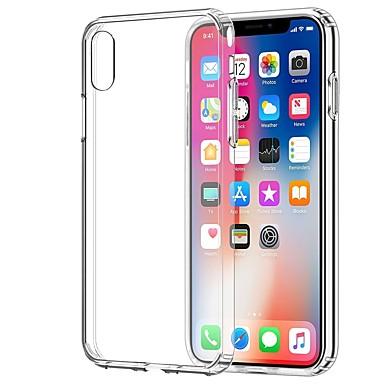 Недорогие Кейсы для iPhone-Кейс для Назначение Apple iPhone X / iPhone 8 Pluss / iPhone 8 Прозрачный Кейс на заднюю панель Однотонный Мягкий ТПУ