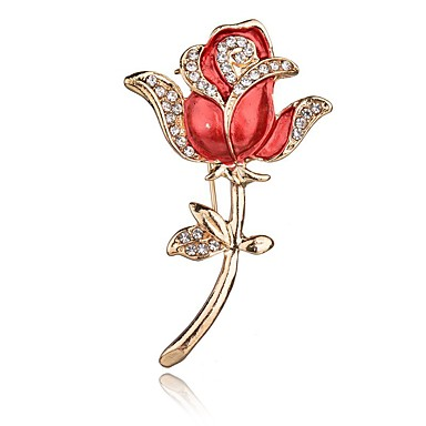 099bc5c1d cheap Brooches-Crystal Brooches Floral / Botanicals Flower Daisy Ladies  Vintage Sweet Fashion Brooch Jewelry