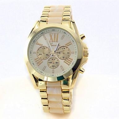 זול שעוני גברים-בגדי ריקוד גברים שעון יד קווארץ מתכת אל חלד זהב 30 m כרונוגרף Word מגניב / ביטוי צג גדול אנלוגי פאר יצירתי - שחור בז' כחול שנה אחת חיי סוללה / SSUO LR626
