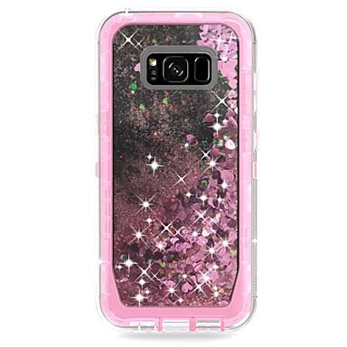 voordelige Galaxy S-serie hoesjes / covers-hoesje Voor Samsung Galaxy S9 / S9 Plus / S8 Plus Schokbestendig / Stromende vloeistof / Schild Achterkant Schild / Glitterglans Hard PC