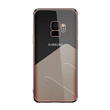 voordelige Galaxy S-serie hoesjes / covers-hoesje Voor Samsung Galaxy S9 / S9 Plus Transparant / Patroon Achterkant Geometrisch patroon Zacht TPU