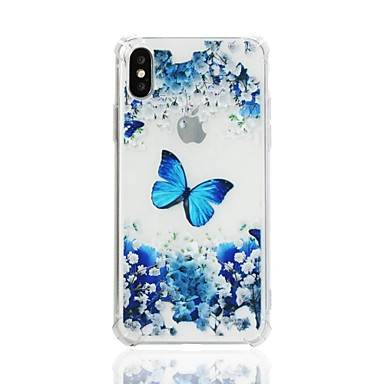 Case For Apple iPhone X / iPhone 8 Plus / iPhone XS Shockproof / Transparent / Pattern Back Cover Butterfly / Flower Soft TPU for iPhone XS / iPhone XR / iPhone XS Max
