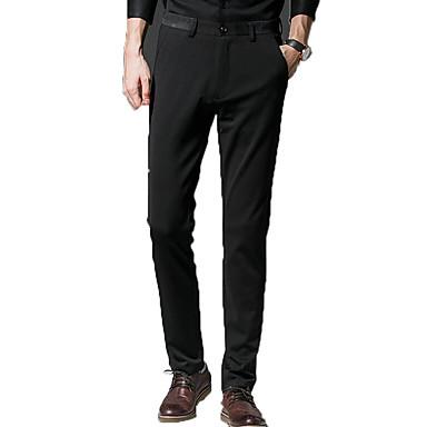 0481ff4ed4724 Erkek Temel Büyük Bedenler Günlük Takım Elbise Pantolon - Solid Şarap Haki  Açık Gri 34 36