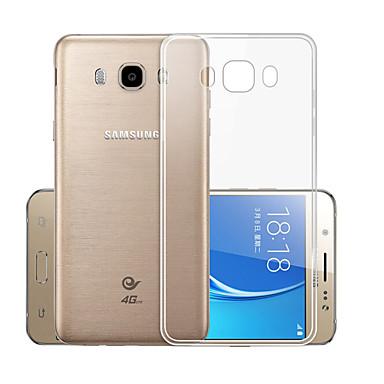 voordelige Galaxy J-serie hoesjes / covers-hoesje Voor Samsung Galaxy J7 (2016) Transparant Achterkant Effen Zacht TPU