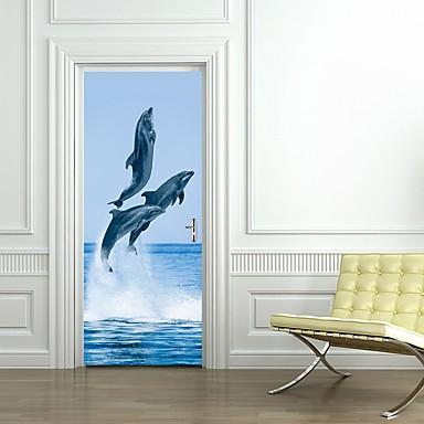 ملصقات الباب - لواصق مناظر طبيعية / حيوانات غرفة الجلوس / غرفة النوم